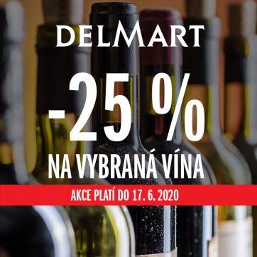 – 25 % na vybraná vína