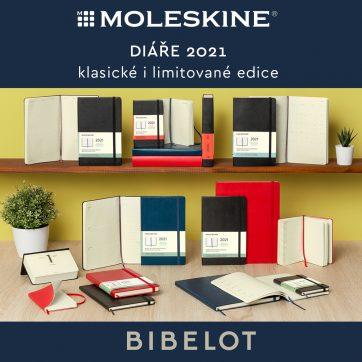 Nová kolekce diářů Moleskine v prodejně Bibelot