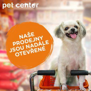 Prodejna Pet Center je nadále otevřená
