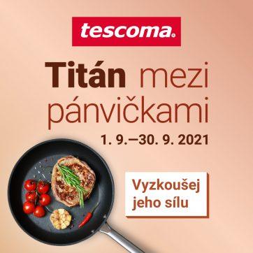 Akční plakát Tescoma na září vás vybaví na podzim