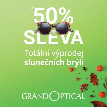 Totální výprodej slunečních brýlí v GrandOptical!