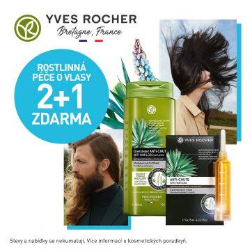 2+1 zdarma na péči o vlasy v Yves Rocher