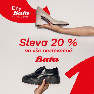 20 % na vše nezlevněné u Bati
