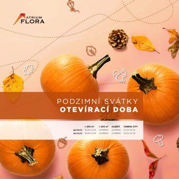 Otevírací doba podzimní svátky